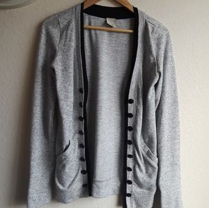 Irene's story grey and black cardigan Medium